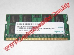 1GB 667MHz Apacer AS01GE667C5KBGC DDRII RAM PC2-5300