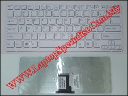 Sony Vaio VPC-CA New US White Keyboard with Frame