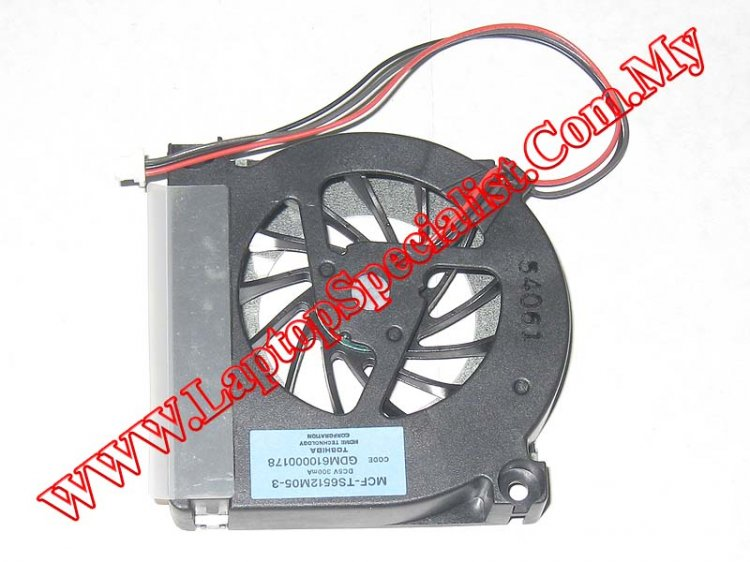 Toshiba Satellite A10/A15 CPU Cooling Fan GDM610000178 - Click Image to Close