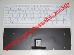 Sony Vaio VPC-EB New UK White Keyboard (With Frame)148793211