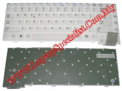 Asus A2H/D1400T 04-N7F1KK0R2 White New US Keyboard