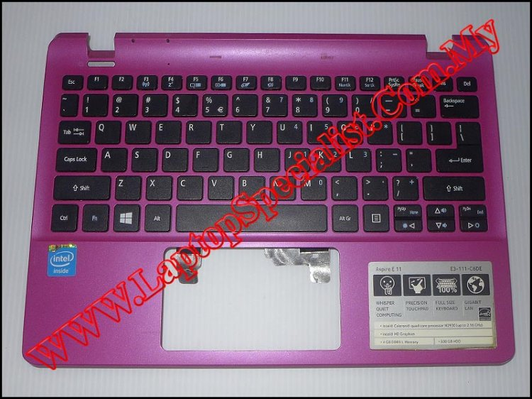 Acer Aspire E3-111 Palm Rest With Keyboard - Click Image to Close