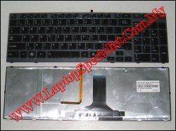 Toshiba Qosmio X770 New US Backlight Keyboard PK130IB1A00