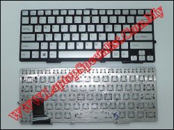 Sony Vaio SVS13118 New US Silver Keyboard